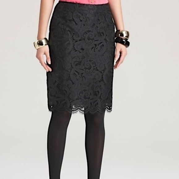 b9955e881 Lilly Pulitzer Skirts   Black Lace Hyacinth Pencil Skirt   Poshmark